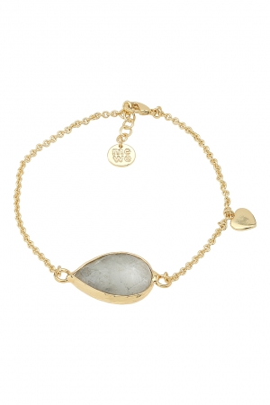 gold bracelet labradorite rock on