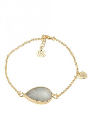 gold bracelet labradorite rock on